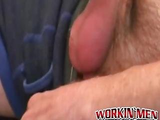 Masculine Older Man Pulls His Dick Out And Decides To Wank It Until He Comes And Feels All That Jizz