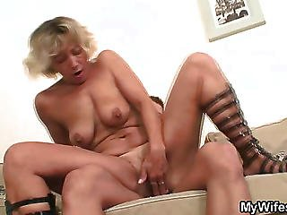 Ancient Pussy Takes Cock