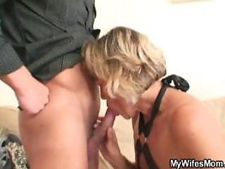 Aged Milf Takes His Young Cock