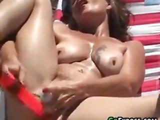 Masturbating At The Beach