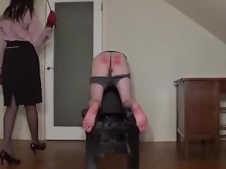 Miss Sultrybelle Administers 30 Strokes Of The Cane. (hard Caning)