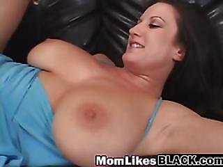 Filthy Mom Gags On Fat Black Dong And Gets Slippery Pussy Devoured