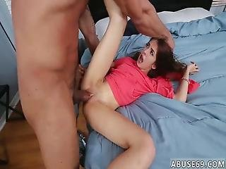 Skinny Curly Blonde Teen And Scissor Hd Sally Going On A Wild Ride !
