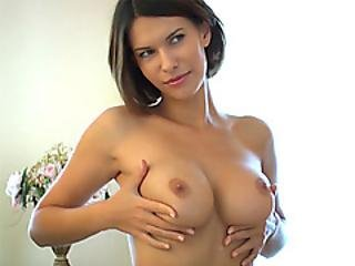 Perfect Big Tits Milf Squeezes Her Boobs For Playboy