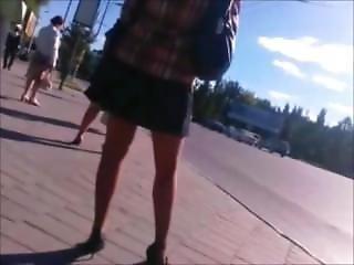 素人, 黒い, 黒ストッキング, フェティッシュ, パンティー, ピンク, パブリック, スカート, ストッキング, アップスカート