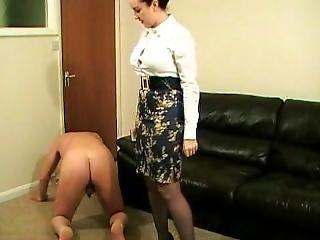 Ballbusting Mistress Jessica Wood Sexy Skirt
