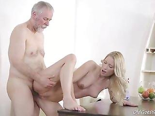 Grandpa tucked his cock young housemaid