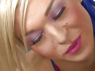 blonde, pipe, cheerleader, éjaculation, dans la tête, branlette, pute, shemale, tgirl, trans