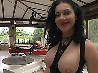 Busty Slut Gets Two Pulsating Cocks In Threesome