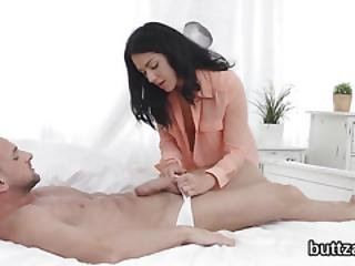 Glamorous Petite Sweetie Gets Her Narrowed Snatch And Small Asshole Fucked