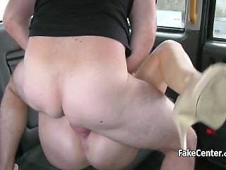 Hot Busty Milf Creampied In Taxi