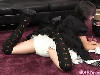0348 Black Dress Diaper Wetting