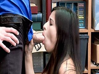 Jasmine Gomez Goes Down To Her Knees And Blowjob The Lp Officers Cock