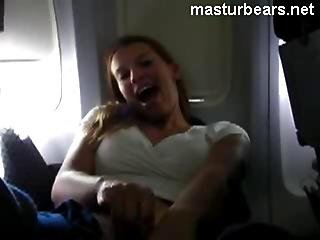 Airplane Orgasm Dutch Milf Annouk