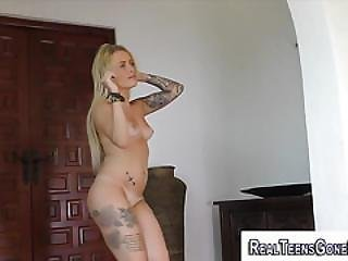 Amateur, Babe, Blonde, Booty, Dancing, Glasses, Masturbation, Party, Pierced, Reality, Tattoo