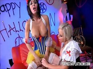 Nina Elle And Jessica Jaymes Uniform Threesome