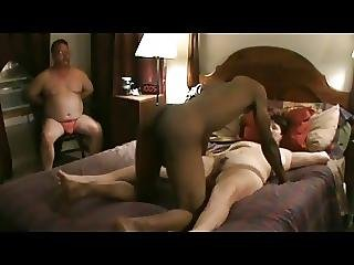 Cuckold In Chastity As Wife Fucks Young Bbc With Cleanup