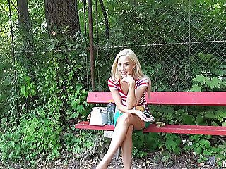 Cute Golden-haired In Hawt Miniskirt Nesty