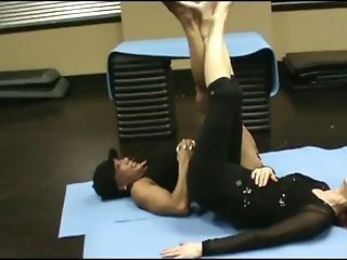 Lisa And Latia Squa Wrestle In Sexy Challenge