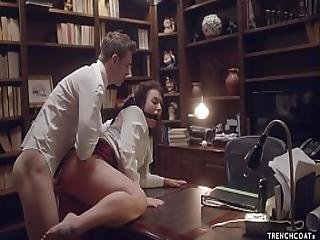 Secretary Ivy Lebelle Gets Hard Anal Sex And Squirts