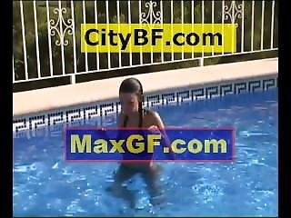 Swimming Pool Photo-shoot With Jai Sexy Tits