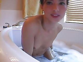 Brunette Sexy Shaving And Bath Campussy Org For More
