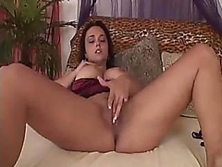Strap On Busty Dark Hair Babe Anal Stud Doggy