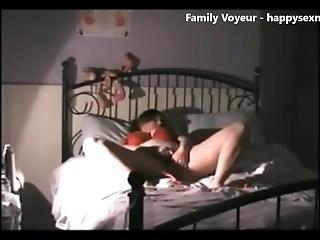 Hidden Cam Caught My Mom Masturbating On Bed