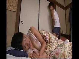 japansk, mor, soving