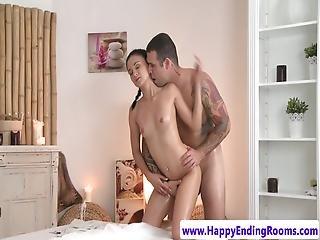 Massage Beauty Sucking Her Masseur Before Sex