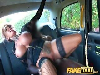 Fake Taxi Sexy Busty Tattooed Milf Stripper Wants Big Black Cock
