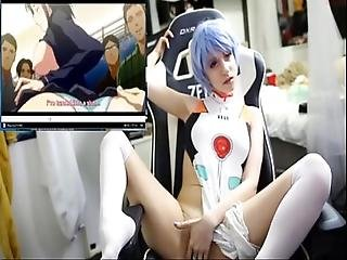 Watching Hentai With Lana Rain As Ayanami Rei Full Recording