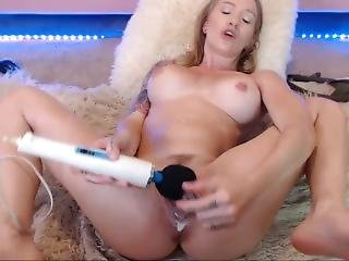 Blonde Fucking Her Creamy Tight Pussy With Glass Dildo