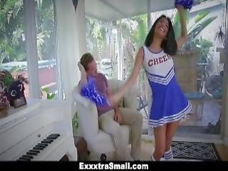 Exxxtrasmall Cute Cheerleader Fucks Huge Cock