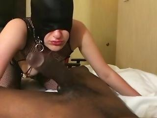Huge Bbc Blowjob And Fuck With Bdsm Mask