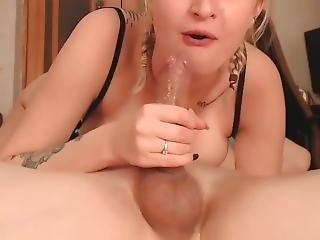 amatorski, blondynka, obciąganie, śmietanka, sperma wewnątrz, wytrysk, głębokie gardło, kutas, głodna, milf, kamerka