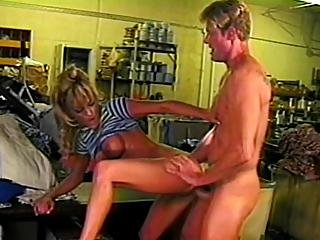 Horny Blonde Bitch Julie Loves Eating Cum