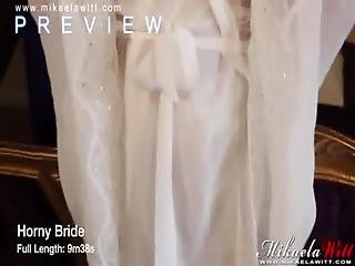 British Blonde Babe Mikaela Witt Horny Bride Strip Tease Preview