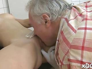 Slutty Teen Is Showing Her Nice Natural Tits To Her Doctor