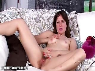 Rose Vermillion Flaunts And Strokes Her Furry Snatch