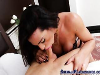 Slutty Tgirl Gets Facial