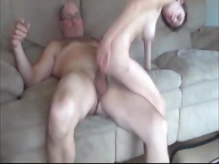 Skinny And Busty Teen Having Fun With Owner Of Apartment