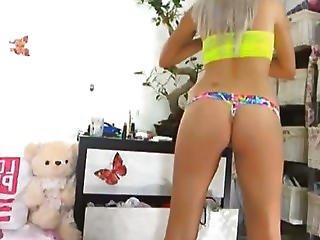 Perfect Ass Blonde Masturbates Hd