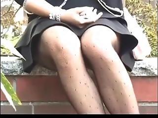 Spying Upskirt Asian Babe By Voyeur Troc