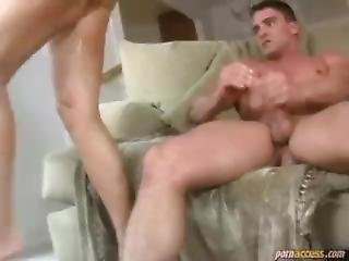 Big Tits Double Up A Dude And Fuck Suck And Cum On Tits