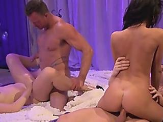 Round Ass Sluts Are Eager To Fuck In A Hot Foursome