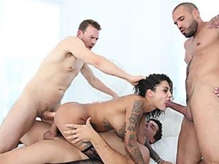 Sexy Tattooed Bonnie Rotten Gets Her Tight Ass And Pussy Penetrated Hard