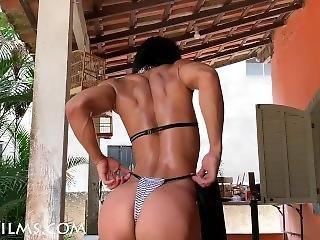 cul, bonasse, gros cul, brunette, latino, solo, tatouage, Ados