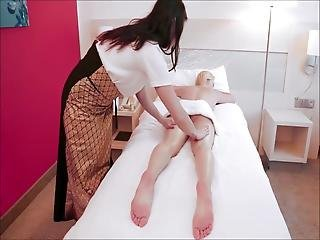 Hot Girl Wants A Lesbian Massage To Relax In Hotel-room 1
