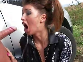 Hooker Gets Her Throat Fucked Hard
